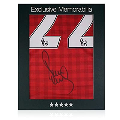 Paul Scholes Signed Manchester United 2012-13 Soccer Jersey In Gift Box