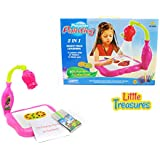 Artist Projector Painting Kit A Cute Toy Set For Kids Age 3+ Combination Of Battery Operated, High Tech 3 Lantern...