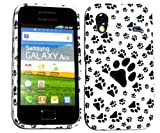 Paws, Animal Dog Footprint Silicone Gel Case For Various Mobile Models, iPhone, Samsung, HTC, Blackberry (Galaxy Ace S5830)