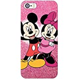 Clapcart Mickey And Minnie Mouse Design Printed Mobile Back Cover Case For Apple IPhone 5 / 5S / 5 SE - Multicolor