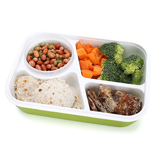 bento box lunch box 3 compartment 1 bowl 4 in 1 1 spoon. Black Bedroom Furniture Sets. Home Design Ideas