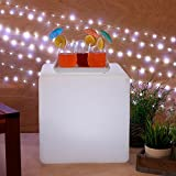 """Rechargeable Color Changing 15"""" Square LED Cube Party Light with Remote"""