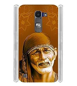 Lord Shirdi Sai Baba Sab Ka Malik Ek Soft Silicon Rubberized Back Case Cover for LG Spirit 4G LTE
