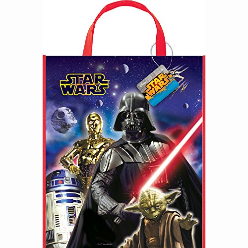 "Large Plastic Classic Star Wars Favor Bag, 13"" x 11"" - 1"