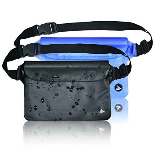 2-Pack-Elite-Waterproof-Pouch-Dry-Bag-Case-with-WaistShoulder-Strap-Fanny-Pack-for-Boating-Swimming-Hiking-Fishing-Safest-Way-to-Keep-Your-Valuables-Dry-Protected-100-Lifetime-Guarantee