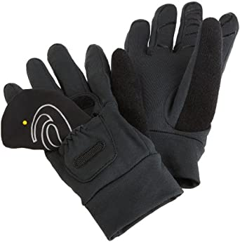 ASICS Wind Cover Running Gloves,Black,Large