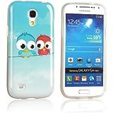 tinxi� Design Schutzh�lle f�r Samsung Galaxy S4 mini H�lle TPU Silikon R�ckschale Schutz H�lle Silicon Case mit zwei kleine Eulen Owl Muster