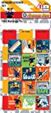 Fireman Sam Birthday Party Reward Large Sticker Sheet & Chart - Loot Bag Filler