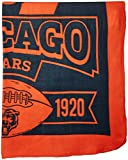 NFL Chicago Bears Marque Printed Fleece Throw, 50-inch by 60-inch