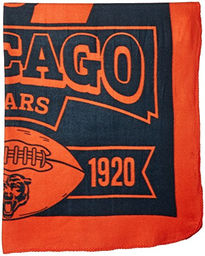 NFL Chicago Bears Marque Printed Fleece Throw, 50-inch by 60-inch (Chicago Bears Womens Jersey compare prices)