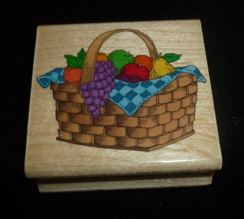 Fruit Basket Rubber Stamp - 1