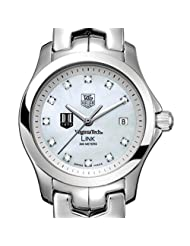 Virginia Tech TAG Heuer Watch - Women's Link with Mother of Pearl Diamond Dial