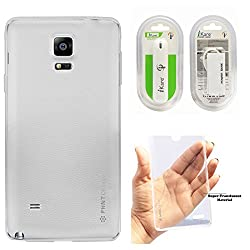 DMG PHNT Premium Scratch-Resistant Ultra Thin Clear TPU Skin Case for Samsung Galaxy Note 4 N9100 (Clear) + 2600 mAh Power Bank