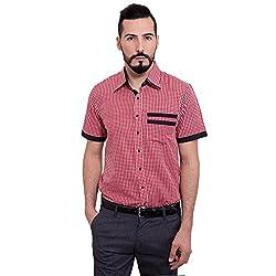 FBBIC Men's Mini checks Cotton Shirt