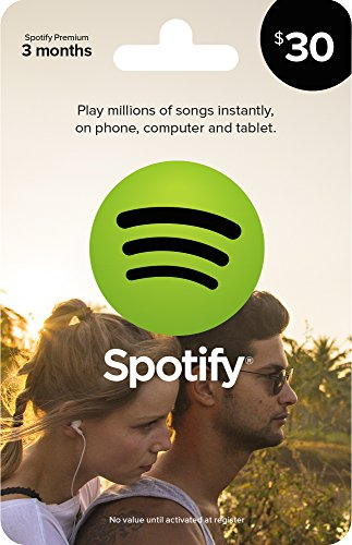 Spotify Gift Card $30 (Amazon Music Card compare prices)