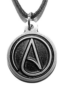 Black Pewter Atheist Symbol Pendant Amazon Co Uk Jewellery