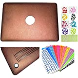 "IFyx PU Leather Hard Protective Shell Case Cover Skin For Apple Macbook Air 13 Inch 13.3"" Free Keyguard + Dust..."