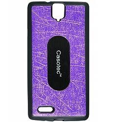 Casotec Metal Back TPU Back Case Cover for InFocus M330 - Purple