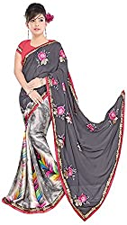 Jay Ambe Creation Women's Georgette Saree (ra1002)