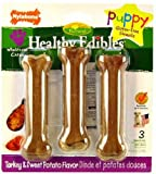 Nylabone Natural Healthy Edible Puppy Bones 3 ea