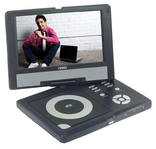 10 Inch Naxa Npd-1002 Ac/Dc Widescreentft Lcd Swivel Screen Portable Dvd Player W/ Usb/Sd/Mmc Inputs