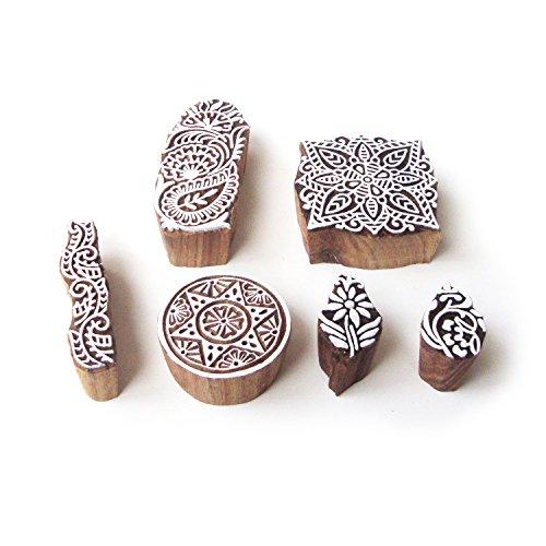redondo-y-cuadrado-decorativo-disenos-madera-impresion-sellos-set-de-6