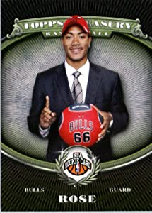 2008 09 Topps Treasury Basketball Card #101 Derrick Rose RC Chicago Bulls Encased... by Treasury