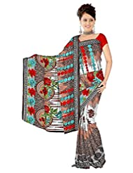 Anand Sarees Faux Georgette Self Print Saree - B013P1Y808