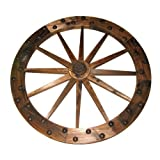 """United General Supply Co Inc 36"""" Deluxe Wooden Wagon Wheel"""