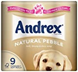 Andrex 9 Roll Natural Toilet Tissue 240 Sheets (Pack of 5, Total 45 Rolls)