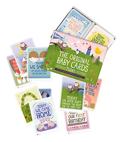 The Original Baby Cards - Twins by Milestone - 48 photo cards in a gift box, especially created for parents of twins, to capture special twin moments.