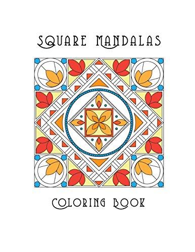 Square Mandalas Coloring Book