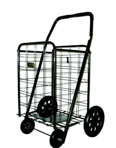 Black Heavy Duty Folding Shopping Cart – American Trading House