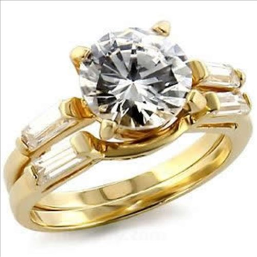 2.5ct Brilliant Bridal Wedding Ring Set Gold Plated Cubic Zirconia (7)