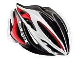 メット(MET) ストラディバリウス HES ヘルメット ホワイト/ブラック/レッド L(58-61cm)