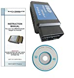 BAFX Products - Bluetooth OBD2 scan tool - For check engine light & diagnostics - Android ONLY