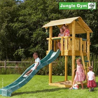 Jungle Gym Spielturm SHELTER mit Rutsche - Grün