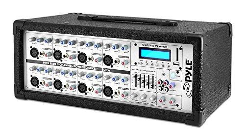 Pyle-Pro PMX802M 8 Channel 800 Watts Powered Mixer w/MP3 Input