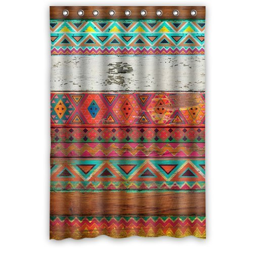 Natural Pattern Aztec Shower Curtain 60