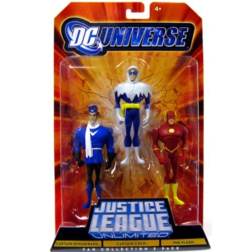 Buy Low Price Mattel DC Universe Justice League Unlimited Fan Collection Action Figure 3Pack Captain Boomerang, Captain Cold & The Flash (B0034TQ9TA)