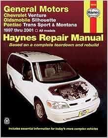 General Motors Chevrolet Venture 97 01 Oldsmobile