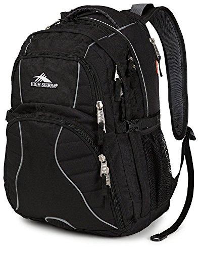 High Sierra Swerve Backpack,Black/Black front-787728