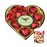 Valentine Chocholik Luxury Chocolates - Full Of Joy Wrapped Chocolate Box With Love Mug