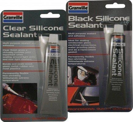 1x Granville Clear Silicone Sealant