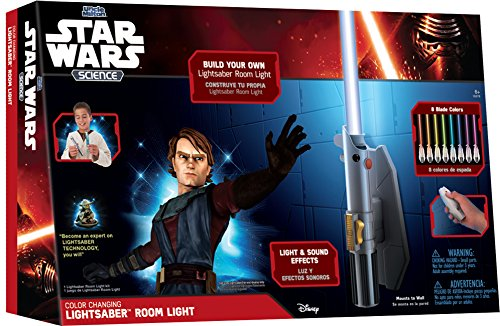 Uncle Milton - Star Wars Science -  Multicolor Lightsaber Room Light