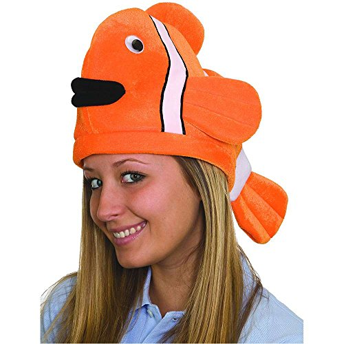 Orange Funny Clown Fish Hat - One Size