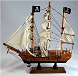Pirate Ship Wood 9 X 9 Nautical Maritime Boat Decor New