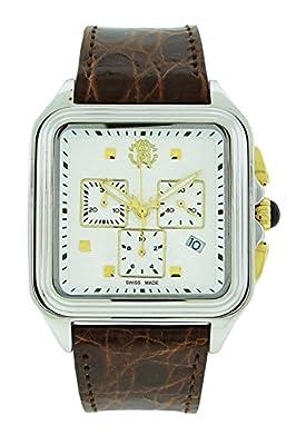 Roberto Cavalli Venom Men's Brown Genuine Crocodile Chronograph Watch R7251692045