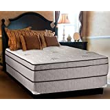 Continental Sleep Mattress, 13-Inch Fully Assembled Foam Encased Soft   Eurotop Orthopedic Queen Mattress and Box Spring, Fifth Ave Collection