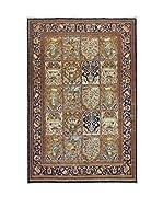 Eden Carpets Alfombra Qom Marrón/Azul 314 x 214 cm